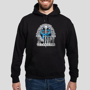 X-Ray Tech Caduceus Blue Hoodie (dark)