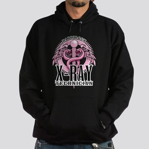 X-Ray Tech Caduceus Pink Hoodie (dark)