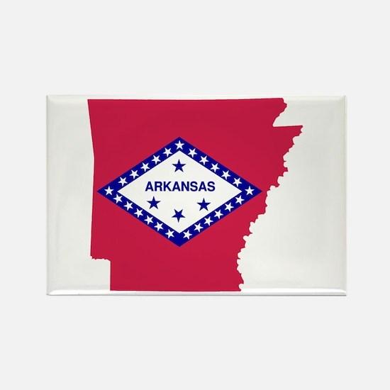 Arkansas Rectangle Magnet
