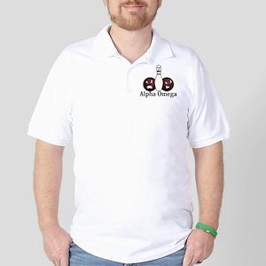Apha Omega Logo 8 Golf Shirt Design Front Pocket a