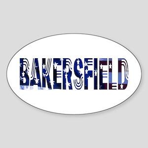 Bakersfield Stars & Strips Oval Sticker