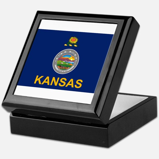 Kansas Flag Keepsake Box
