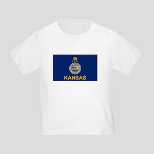 Kansas Flag Toddler T-Shirt