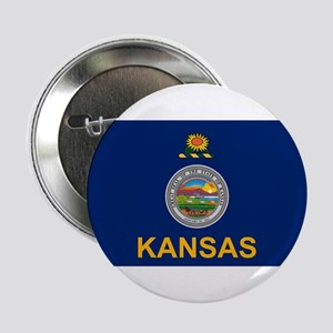 "Kansas Flag 2.25"" Button"