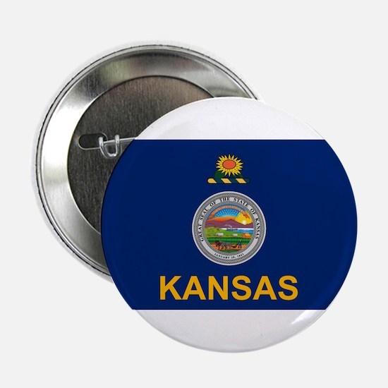 "Kansas Flag 2.25"" Button (10 pack)"