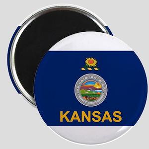 """Kansas Flag 2.25"""" Magnet (10 pack)"""