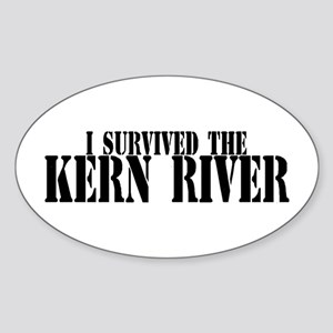 I survived the Kern River Oval Sticker