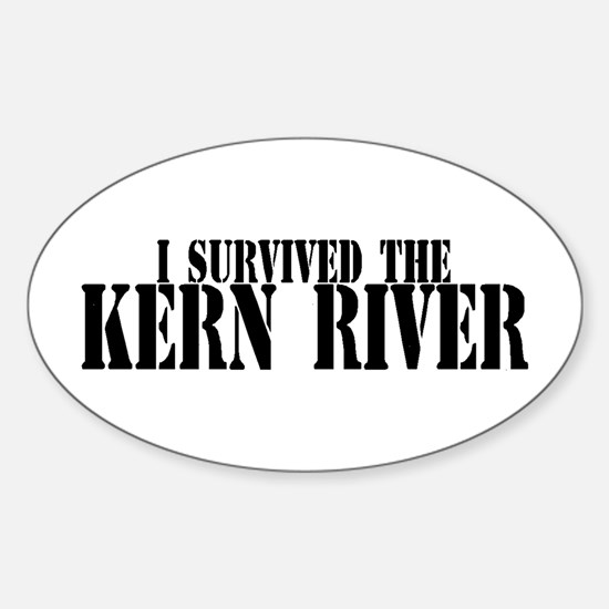 I survived the kern river oval decal