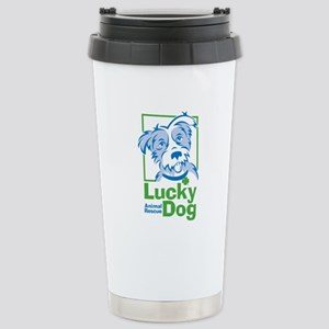 Lucky Dog Stainless Steel Travel Mug