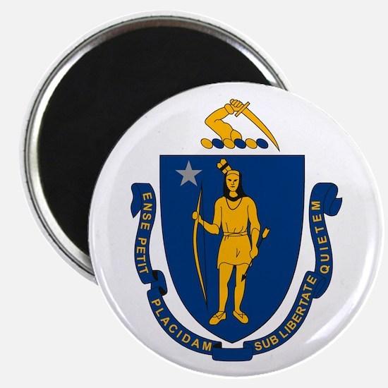 """Massachusetts Flag 2.25"""" Magnet (10 pack)"""