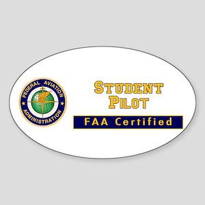 Student Pilot Sticker (Oval)