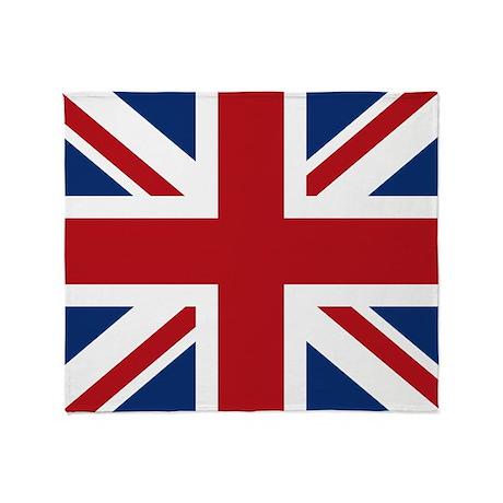 United Kingdom Union Jack Flag Throw Blanket