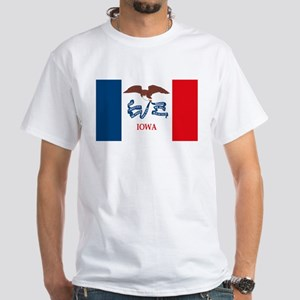 Iowa Flag White T-Shirt