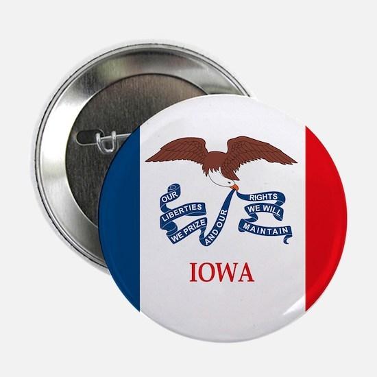 """Iowa Flag 2.25"""" Button (10 pack)"""