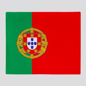 Portuguese, Flag of Portugal Throw Blanket