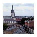 French Quarter Roof Tops Tile Coaster