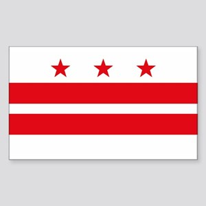 District of Columbia Flag Rectangle Sticker