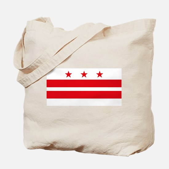 District of Columbia Flag Tote Bag