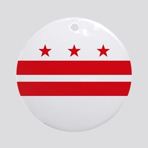 District of Columbia Flag Ornament (Round)