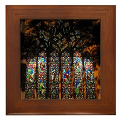 Stained Glass Window Christ ( Framed Tile