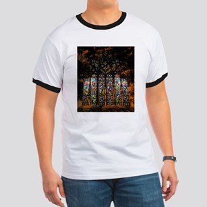 Stained Glass Window Christ ( Ringer T