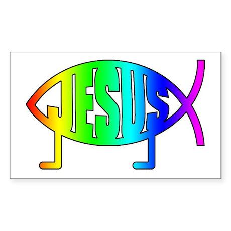 Christians for Evolution Rectangle Sticker