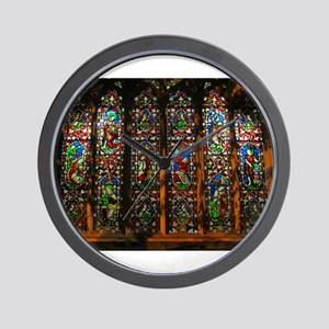 Stained Glass Window Christ Wall Clock