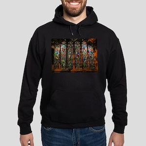 Stained Glass Window Christ Hoodie (dark)