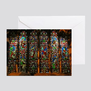Stained Glass Window Christ Greeting Cards (Pk of