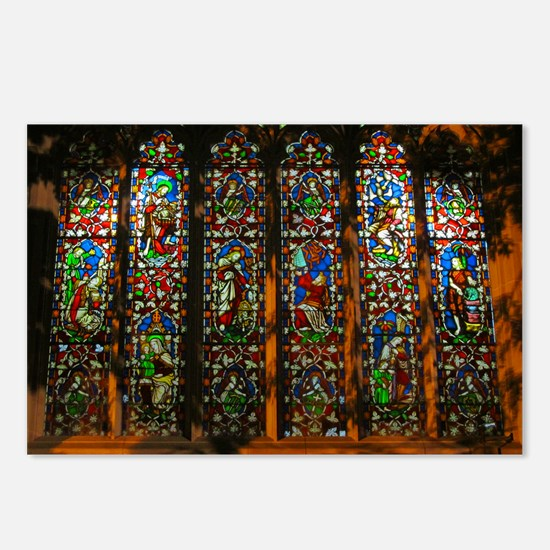 Stained Glass Window Christ Postcards (Package of