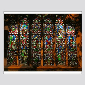 Stained Glass Window Christ Small Poster