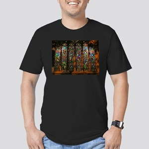 Stained Glass Window Christ Men's Fitted T-Shirt (
