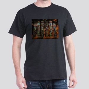 Stained Glass Window Christ Dark T-Shirt