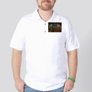 Stained Glass Window Christ Golf Shirt