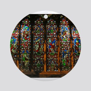 Stained Glass Window Christ Ornament (Round)