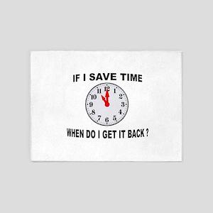 TIME SAVED 5'x7'Area Rug