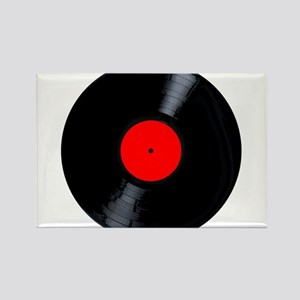 Blank Red Record Label Magnets