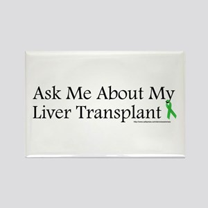 Ask Me Liver Rectangle Magnet