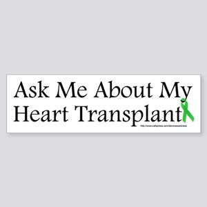 Ask Me Heart Bumper Sticker