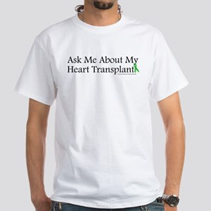 Ask Me Heart White T-Shirt