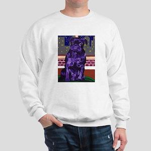 Purple Pug in NY Sweatshirt