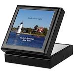 Rock Island Lighthouse Keepsake Box