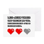 Les jeux video ont gache ma vie Greeting Cards