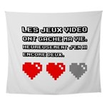 Les jeux video ont gache ma vie Wall Tapestry