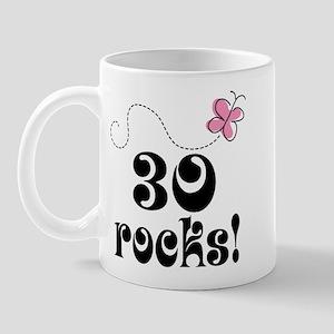 Cute 30th Birthday Butterfly Mug