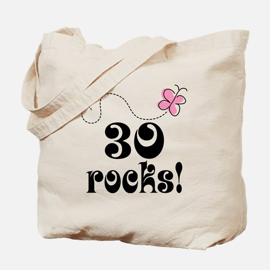Cute 30th Birthday Butterfly Tote Bag