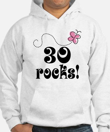 Cute 30th Birthday Butterfly Hoodie