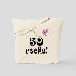 Cute 50 Rocks 50th Birthday Tote Bag