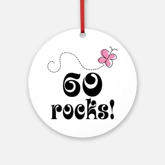 Cute 60 Rocks 60th Birthday Ornament (Round)