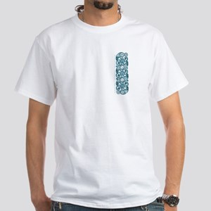 Crane Salmon and Tide Celtic front/back White T